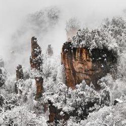 Zhangjiajie snow