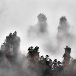 Zhangjiajie  in the  Mist
