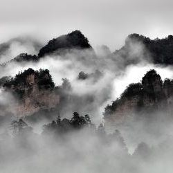Mist Mountains  in Zhangjiajie