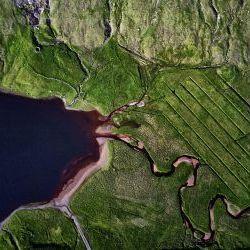 Drone view Faroe Island