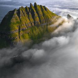 Aerial View Faroe Island