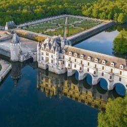 View Aerial Chateau De Chenonceau