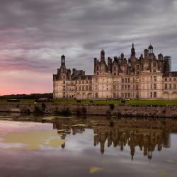 Chateau De Chambord At Sunrise
