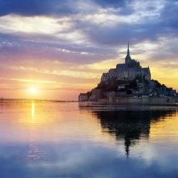 Bay Of Mont Saint Michel